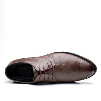 Men Casual Trend of Fashion Rubber Leather Solid Outdoor Wedding Busness Shoes - BROWN D STYLE 38
