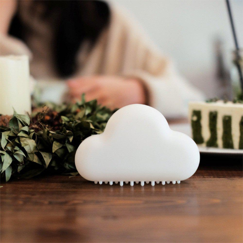 Mini USB Charging Cloud Night Lamp Intelligent Voice Control Sensing LED White - WHITE