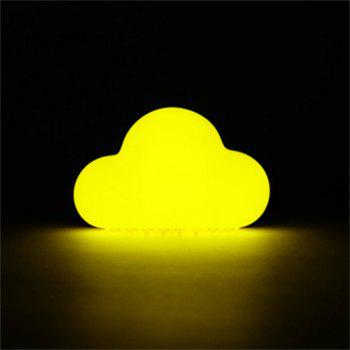Mini USB Charging Cloud Night Lamp Intelligent Voice Control Sensing LED Yellow -  YELLOW