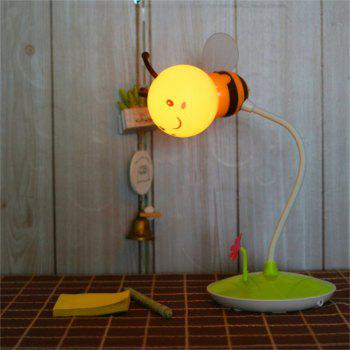 Cartoon Bee LED Lamp USB Charging Touch Dimming Yellow  Light - YELLOW YELLOW