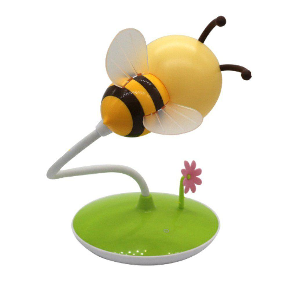 Cartoon Bee LED Lamp USB Charging Touch Dimming Yellow  Light - YELLOW