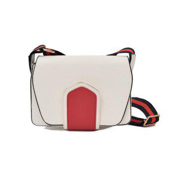 New Wild Shoulder Strap Color Broadband Single Messenger Bag - WHITE WHITE
