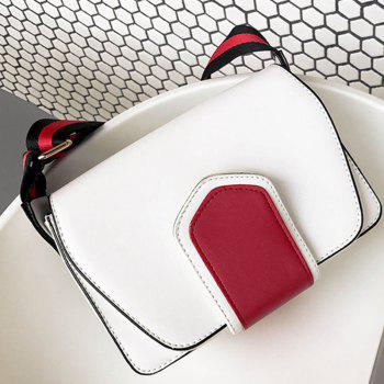 New Wild Shoulder Strap Color Broadband Single Messenger Bag -  WHITE
