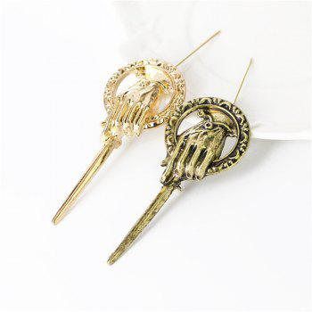 New Fashion Retro King's Scepter Male and Female Brooches - GOLD GOLD
