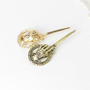 New Fashion Retro King's Scepter Male and Female Brooches - GOLD
