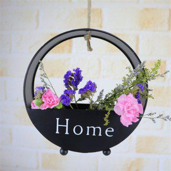 Wall decoration of round type iron hanging wall - BLACK BLACK