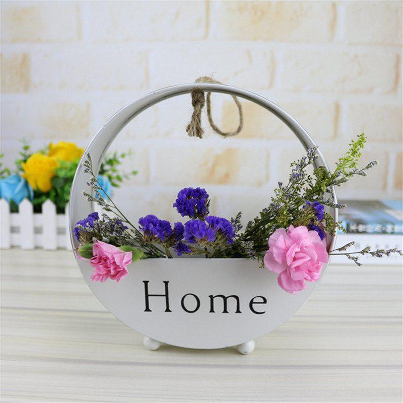 Wall decoration of round type iron hanging wall - WHITE 6.2CM X 20CM