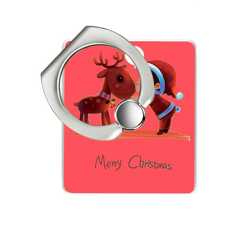 Christmas Deer Pattern Cell Phone Ring Stand Holder for Phone - RED