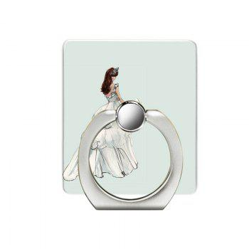 Bride Pattern Cell Phone Ring Stand Holder for Phone - WHITE WHITE