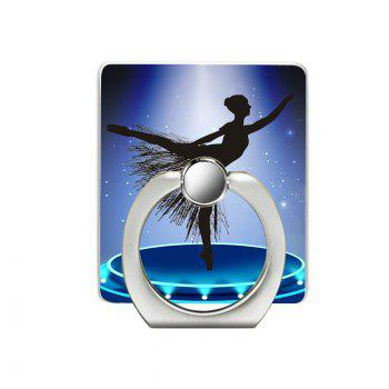 Dancing Girl Pattern Cell Phone Ring Stand Holder for Phone - BLUE BLUE