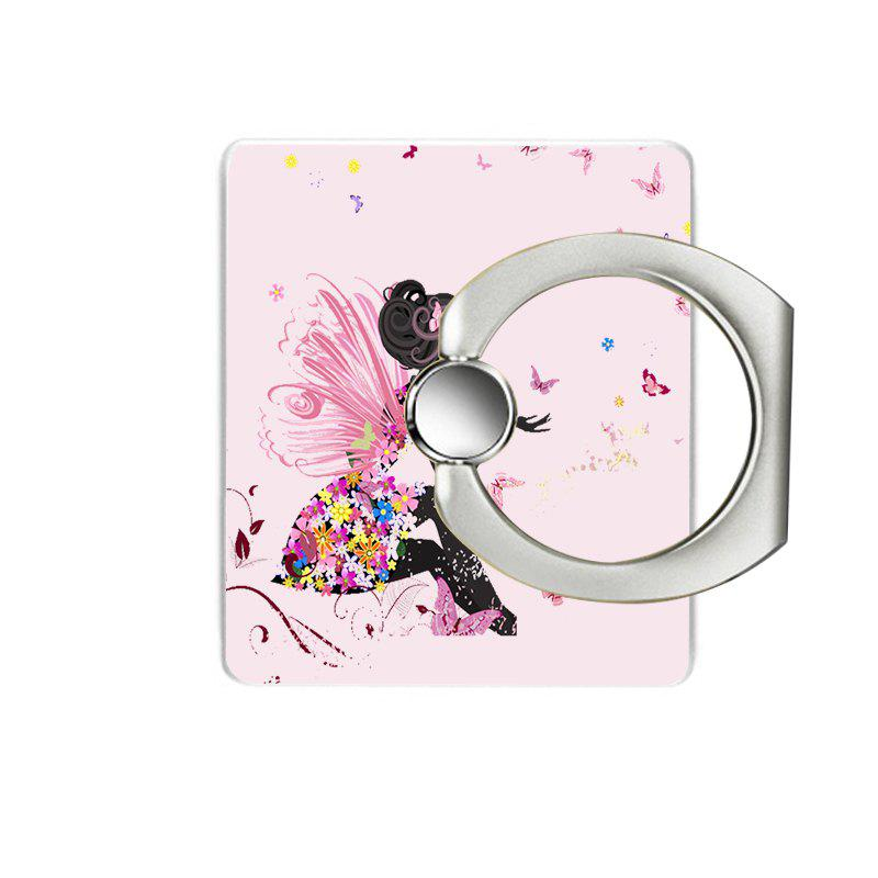 Pink Girl Pattern Cell Phone Ring Stand Holder for Phone - PINK