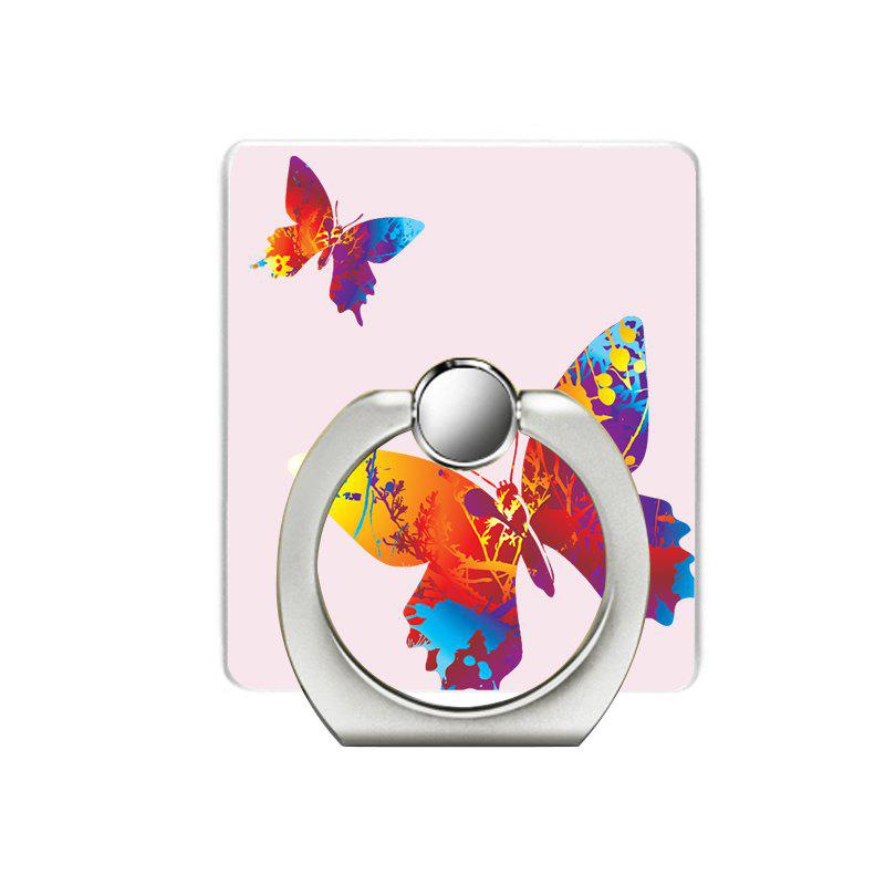 Butterfly Pattern Cell Phone Ring Stand Holder for Phone - PINK