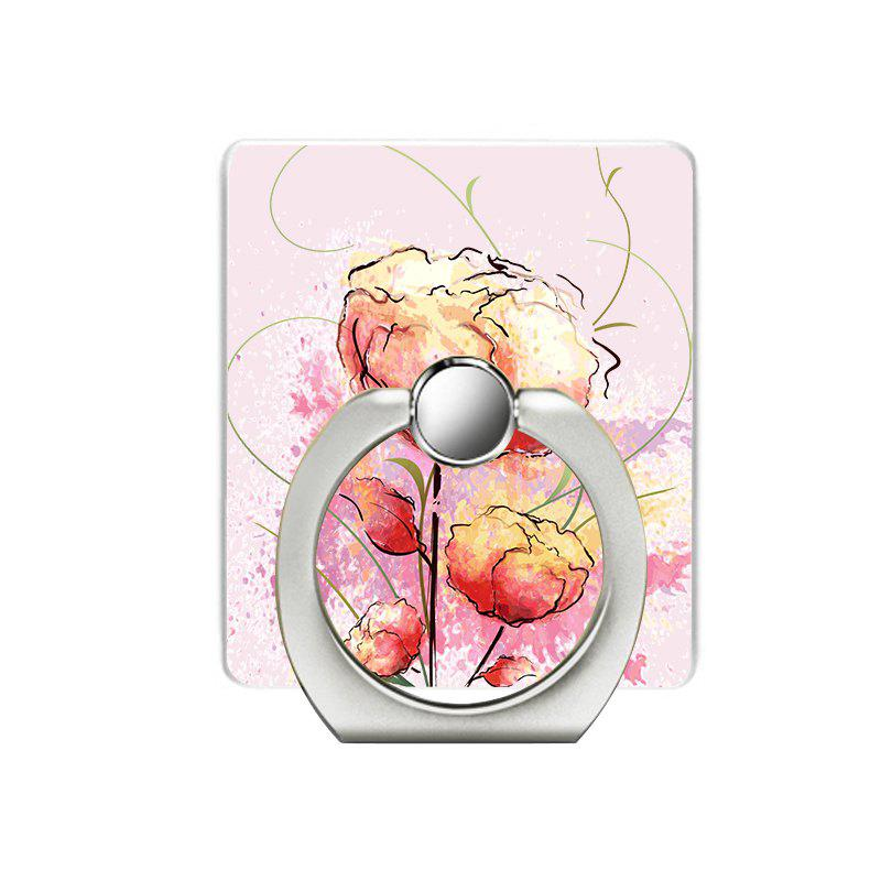 Rose Pattern Cell Phone Ring Stand Holder for Phone - PINK