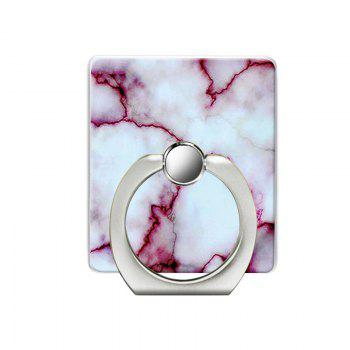 Marble Pattern Pattern Cell Phone Ring Stand Holder for Phone - WHITE WHITE