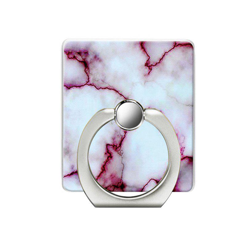 Marble Pattern Pattern Cell Phone Ring Stand Holder for Phone - WHITE