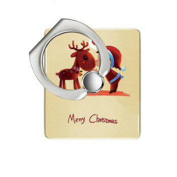 Christmas Deer Pattern Cell Phone Ring Stand Holder for Phone 360 Degrees Rotation - YELLOW