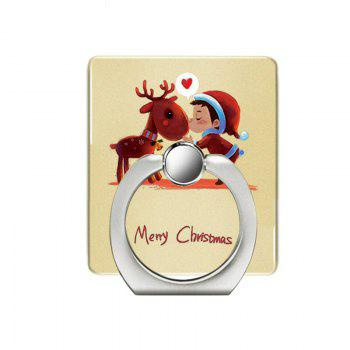Christmas Deer Pattern Cell Phone Ring Stand Holder for Phone 360 Degrees Rotation - YELLOW YELLOW