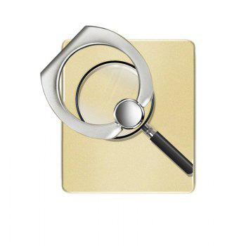 Magnifier Pattern Cell Phone Ring Stand Holder for Phone 360 Degrees Rotation - YELLOW