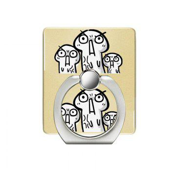 Funny Pattern Cell Phone Ring Stand Holder for Phone 360 Degrees Rotation - YELLOW YELLOW