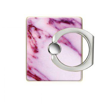 Marble Pattern Cell Phone Ring Stand Holder for Phone 360 Degrees Rotation - PINK
