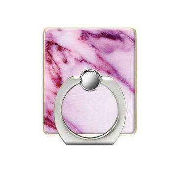 Marble Pattern Cell Phone Ring Stand Holder for Phone 360 Degrees Rotation - PINK PINK