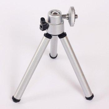 Mini 360 Degree Rotatable Stand Tripod Mount - SILVER