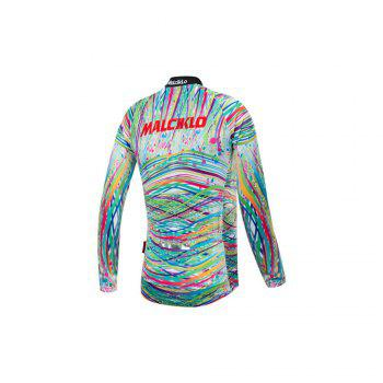Malciklo 18 Malciklo Cycling Jersey Winter Warm with Bib Tights Women's Long Sleeves Bike Compression Suits Quick Dry - BLACK L