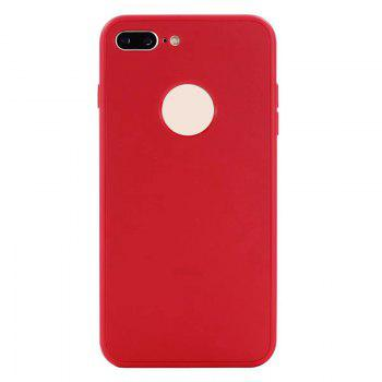 Pure Color Full Package Soft Rear Shell for iPhone 7 Plus / 8 Plus - RED RED