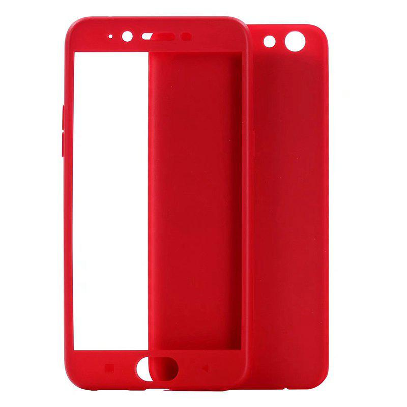 Pure Color Full Package Soft Rear Shell for iPhone 7 Plus / 8 Plus - RED