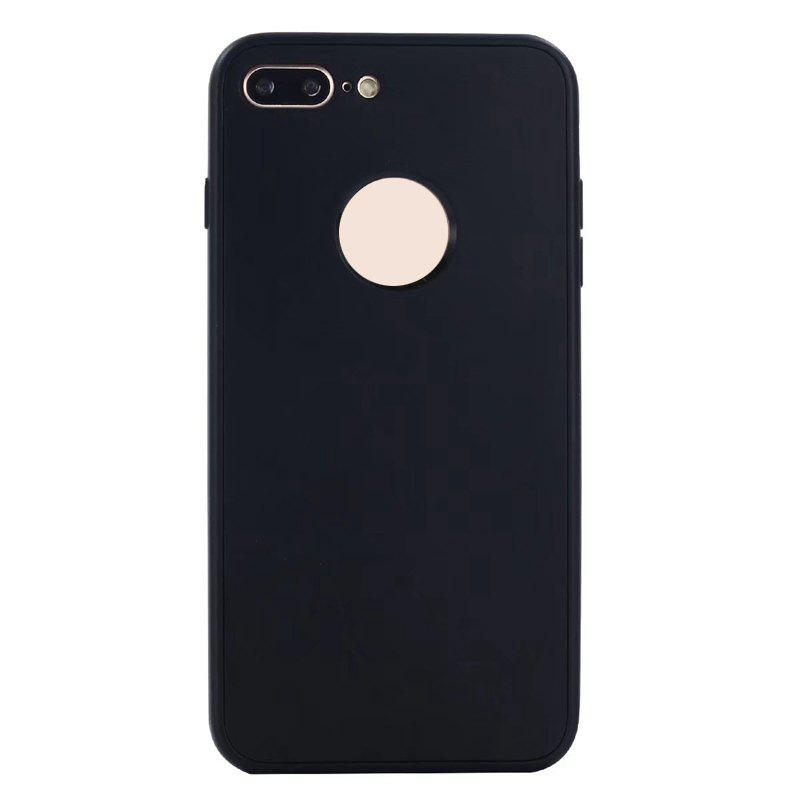 Pure Color Full Package Soft Rear Shell for iPhone 7 Plus / 8 Plus - BLACK