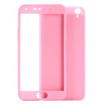 Pure Color Full Package Soft Rear Shell for Oppo R9 Plus -  PINK
