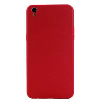 Pure Color Full Package Soft Rear Shell for Oppo R9 Plus - RED RED