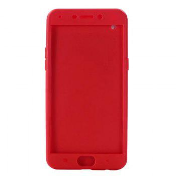 Pure Color Full Package Soft Rear Shell for Oppo R9 Plus - RED