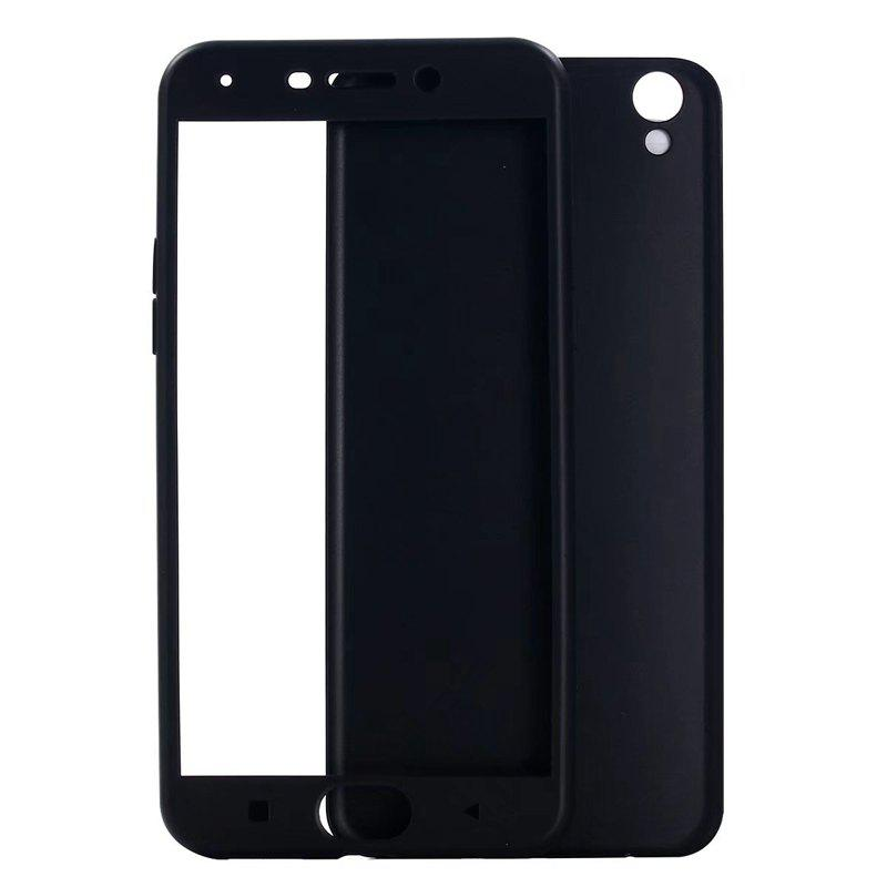 Pure Color Full Package Soft Rear Shell for Oppo R9 Plus - BLACK