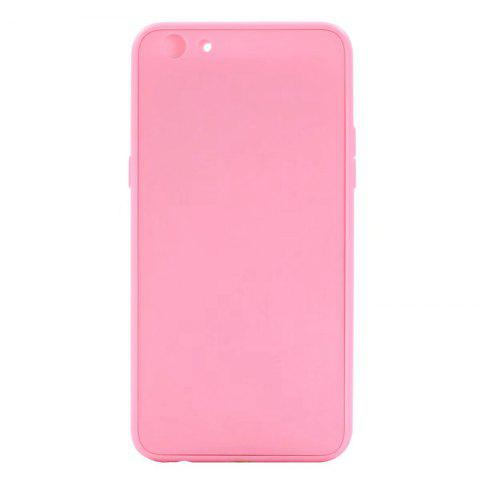 Pure Color Full Package Soft Rear Shell for Oppo R9s Plus - PINK
