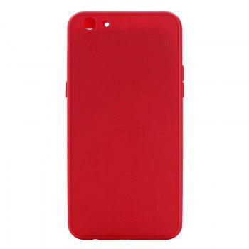 Pure Color Full Package Soft Rear Shell for Oppo R9s Plus - RED RED
