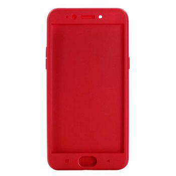 Pure Color Full Package Soft Rear Shell for Oppo R9s Plus - RED