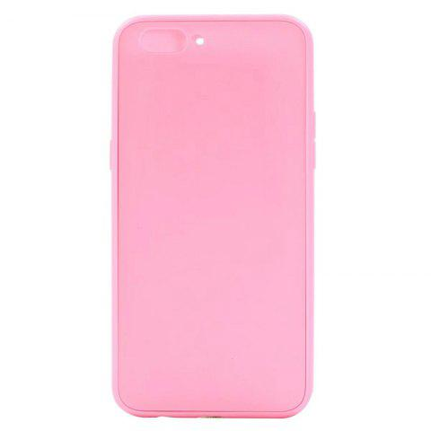 Pure Color Full Package Soft Rear Shell for Oppo R11 Plus - PINK
