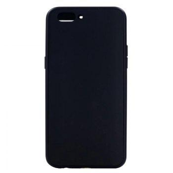 Pure Color Full Package Soft Rear Shell for Oppo R11 Plus - BLACK BLACK
