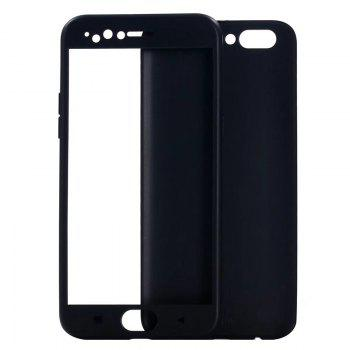 Pure Color Full Package Soft Rear Shell for Oppo R11 Plus - BLACK