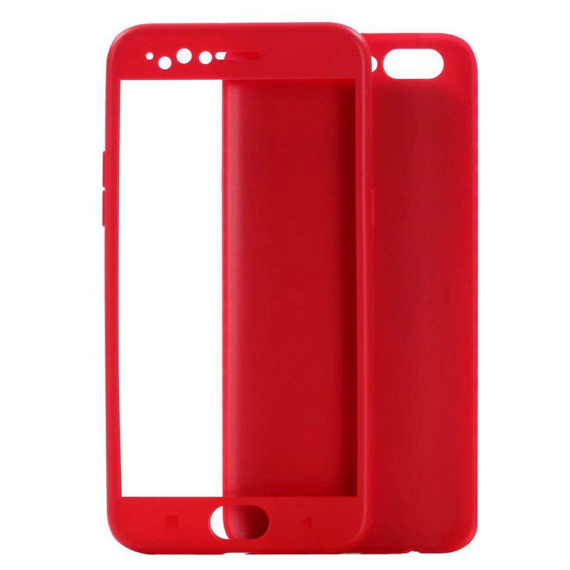Pure Color Full Package Soft Rear Shell for Oppo R11 Plus - RED
