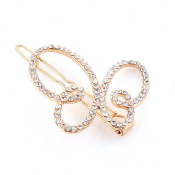 Women's Clip Sweet Sumptuous Rhinestone Inlay Butterfly Accessory - GOLDEN GOLDEN