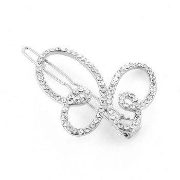 Women's Clip Sweet Sumptuous Rhinestone Inlay Butterfly Accessory - SILVER SILVER