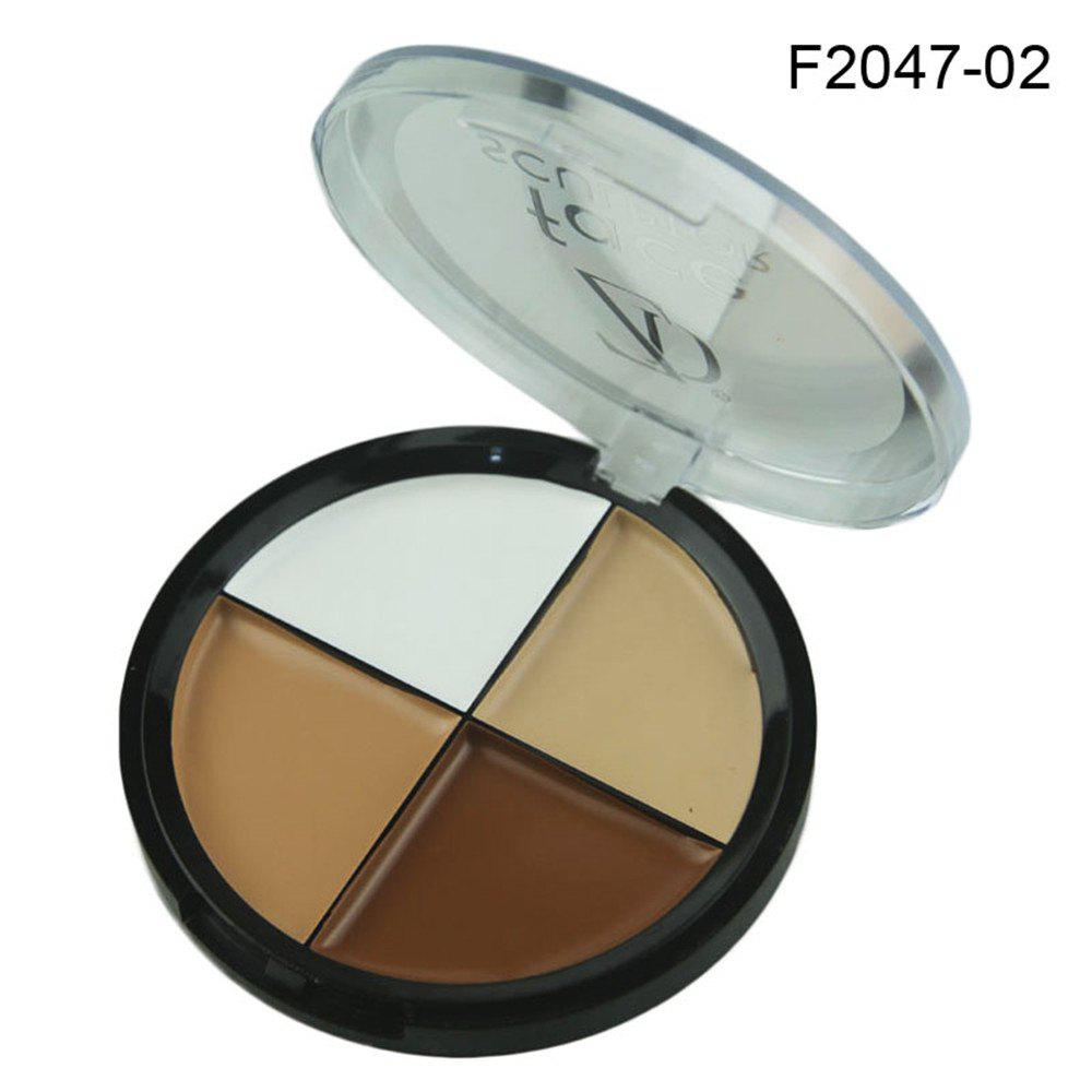 ZD F2047 4 Couleurs Concealer Palette Imperméable Maquillage Visage Naturel 1 PC -