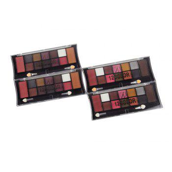 ZD F2049 12 Colors Eye Shadow Palette Shimmer Matte Eyeshadow Powder Eye Makeup 1PC -