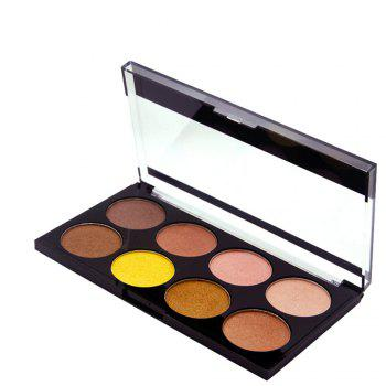 ZD F2086 8 Colors Eye Shadow Palette Shimmer Colorful Eye Makeup 1PC - 02#
