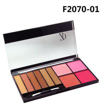 ZD F2070 6 Colors Eyeshadow 4 Color Blusher Palette 1pc -