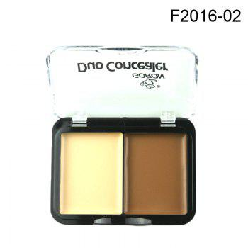 GORON F2016 2 Colors Concealer Palette Face Makeup 3pcs - COLORMIX