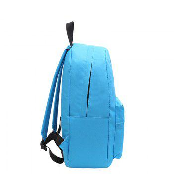 Two-Piece Printed Hot-Air Balloon Bag Slanted Backpack -  BLUE