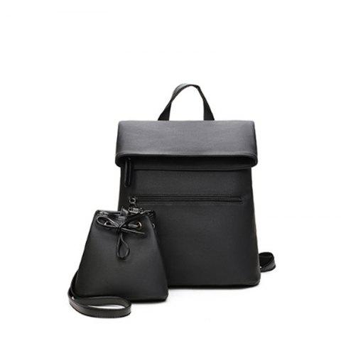 Two Packages of Student Travel Backpacks - BLACK